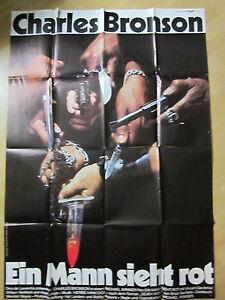 Details Zu Filmposter Kinoplakat A0 Ein Mann Sieht Rot Death Wish 1974 C Bronson