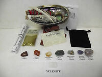 Sage Chakra Smudge Kit Plus Lavender Gift Set With 7 Crystals, & Full Directions