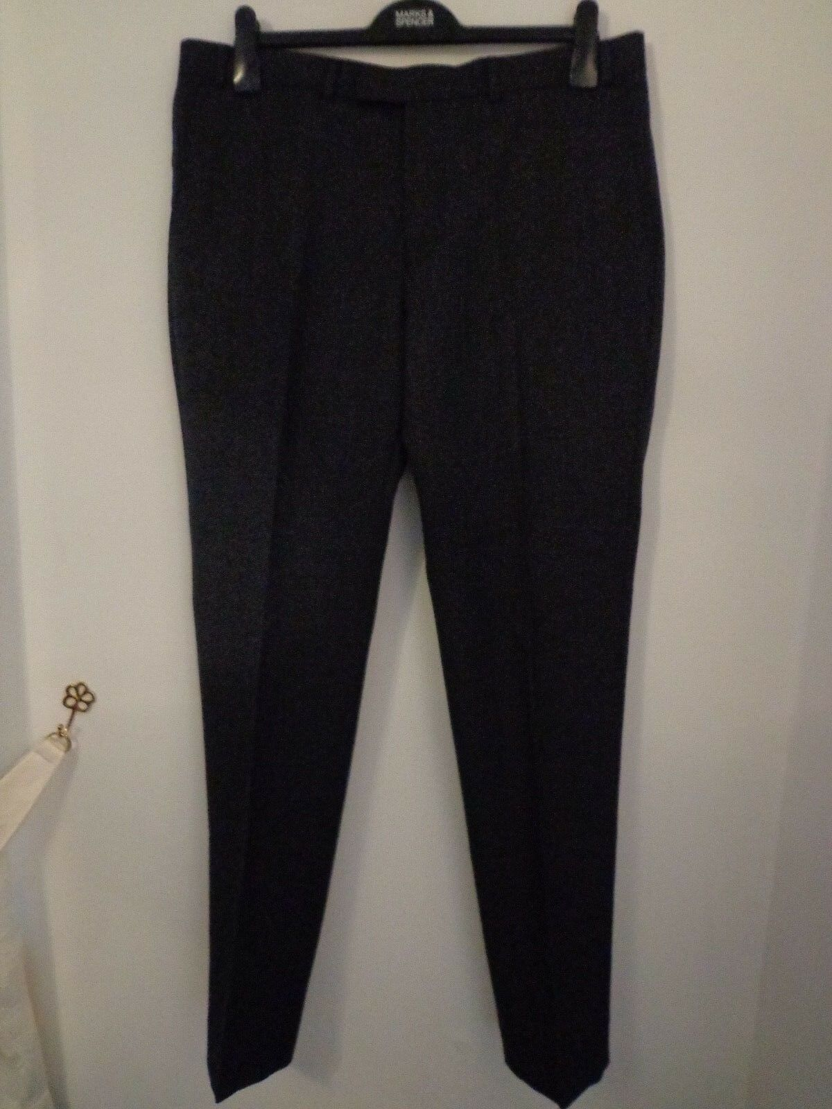 BNWT MENS M&S COLLECTION LUXURY RANGE CHARCOAL TROUSERS WAIST 44