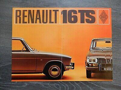 RENAULT 16 grand dépliant couleur R.24