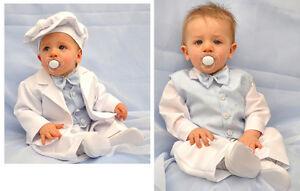 Vestiti Eleganti Bimbo 6 Mesi.Abito Da Battesimo Vestito Bambino Completo Cerimonia Bianco