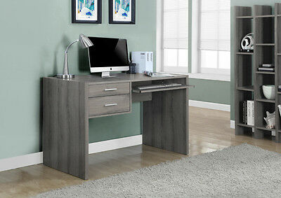 "Monarch Dark Taupe Reclaimed-Look 48"" L Computer Desk I-7090 DESK NEW"