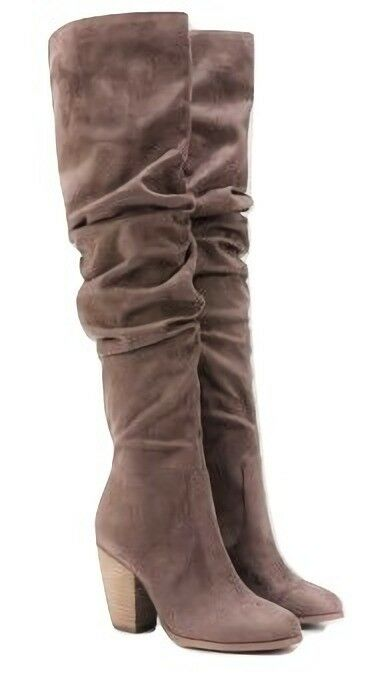 Carlos Santana Hazey over the knee high stivali tall Marronee 3.5  heels 9.5 Med NEW