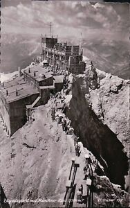 1950s-Postcard-AK-Bayern-Munchner-Haus-Zugspitzgipfel-2964-m