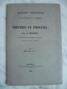 Algunos Reflections Relativamente De La Libertad Las Teatros En Provincia 1864