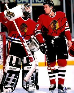 e4780c78f Image is loading BECKETT-BAS-ED-BELFOUR-amp-JEREMY-ROENICK-AUTOGRAPHED-