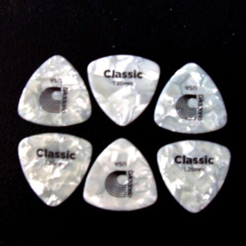 100 WIDE EXTRA HEAVY D/'Addario White Pearl Celluloid Guitar Pick Plectrum 1.25m
