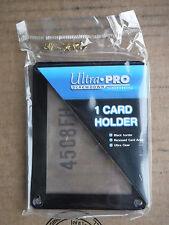 1X ULTRA PRO BLACK FRAME CARD SCREWDOWN HOLDER Recessed 4 Screw Clear Display