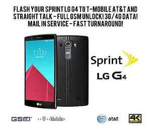 Details about *MAIL IN FAST!* FLASH YOUR LS991 SPRINT LG G4 to GSM! FULL  UNLOCK! 3G/4G DATA!