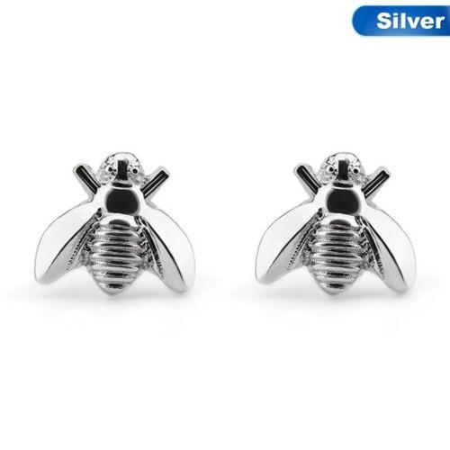 Honey Bee Aretes Oro Plata Bug Criatura Insecto Alas Señora Y Bolsa De Regalo