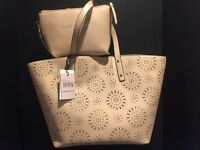 Ivanka Trump Alexey Tote Nude Play It Cool Pouch