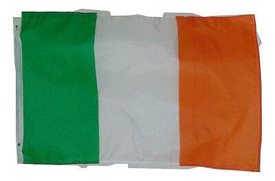 irish ireland nation flag size 11.5 x 18 inches nwot open sleeved polyester