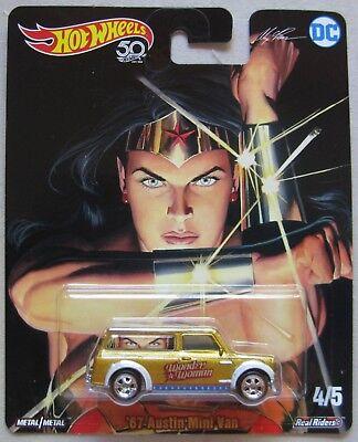 Hot Wheels Pop Kultur Serie Dc Alex Ross /'67 Austin Mini Lastwagen Wonder Woman