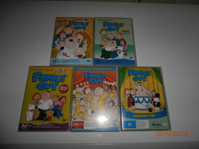Family Guy : Seasons 1 2 3 4 5 (DVDs, 13-Discs) Seth MacFarlane, Mila Kunis