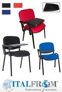 Sedia Sedie Per Conferenze Congressi Con Scrittoio 10pz Affare Rossa Italfrom Ebay