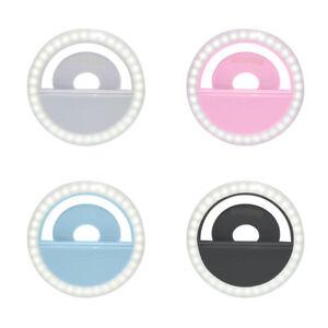 LED Selfie Ring Light Macro Flash Light for Mobile Phone Camera Lighting