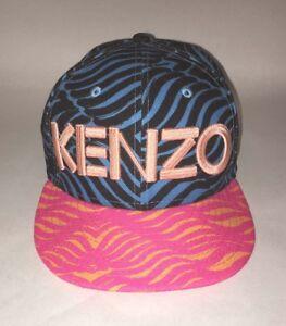 Całkiem nowy więcej zdjęć klasyczne style Details about KENZO Paris New Era Size 7 (55.8cm) Wave Tiger Stripe Logo  Cap Hat Mint 59FIFTY