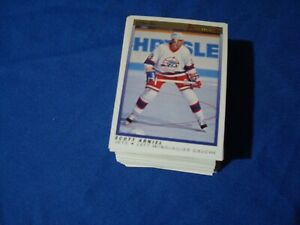 1990-91-OPC-O-PEE-CHEE-PREMIER-IMCOMPLETE-SET-MISSING-32-CARDS-SOME-DAMAGED