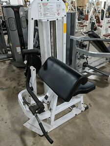 tuff stuff arm curl gym fitness exercise weight stack