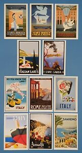 Postcards-Set-of-11-NEW-Stunning-Vintage-Italian-Repro-Travel-Posters-7J