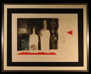 ANTONI CLAVE-BOTTLES- Grabado gofrado  firmado y numerado a mano por el artista-
