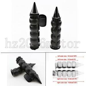 "1/"" Handlebar Handle Grips For Yamaha V-Star 650 1100 1300 Road Star Black"