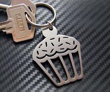 CUPCAKE cake fairycake muffin Keyring Keychain Key Stainless Steel Gift