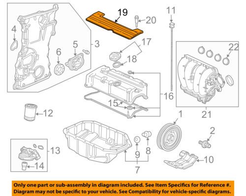 HONDA OEM 10-12 Accord Engine Parts-Ignition Coil Cover 12500R40A10