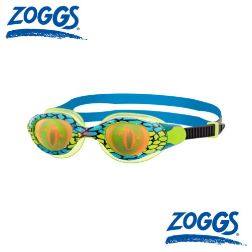 Zoggs Sea Demon Hologram Junior Swimming Goggles Blue 6-14 Years Pink