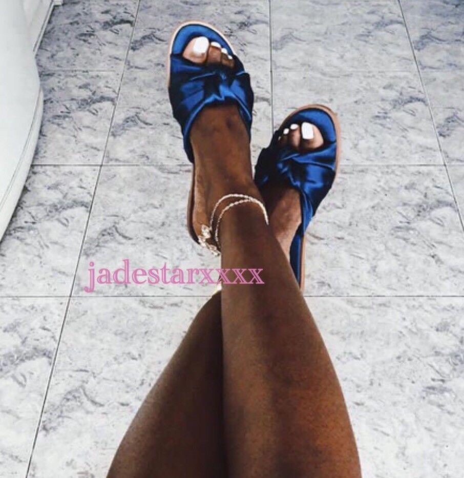Zara Azul Marino las diapositivas diapositivas diapositivas 4 37 Nuevo Zapatos Sandalias Deslizadores pisos arco BNWT  mejor precio