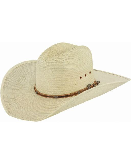 Larry Mahan 30X Pancho Gus Palm Straw Western Hat MS 7681PNCO-BLK