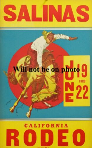 Rodeo Poster Western Bucking Horse Cowboy Picture Art Old West Photo Bull Riding