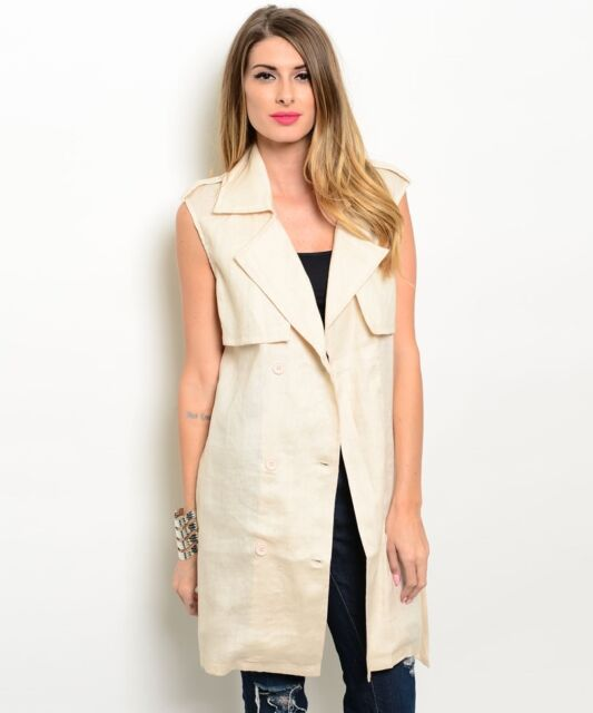Sleeveless linen trench dress by Shop the Trends