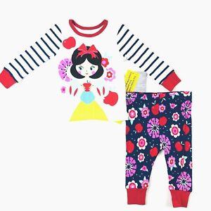82976d0ea Disney Store Snow White Sleepwear Size 6-9 Months Navy Blue Red Long ...