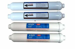 4 X Inline Prefilters 12 month set for 3 stage Reverse Osmosis Compact RO System