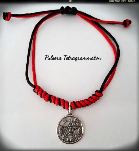 Pulsera Tetragrammaton plata silver pentagram 1,5cm wiccan Pendant Brazalet