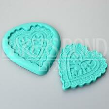 Floral Love Heart Embosser Silicone Mould Romantic Tool Cupcake Topper Cake