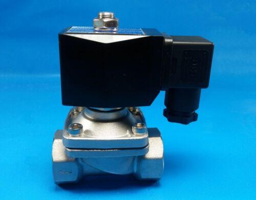 """Air 3//4/"""" NPT 12-Volt DC Stainless Steel N//C Electric Solenoid Valve Vac Water"""