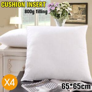 4X-European-Cushion-Pillow-Inserts-Polyester-Filling-65x65cm-AU-Stock