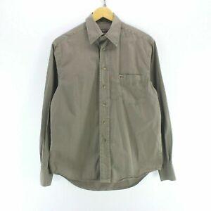 Vintage-Napapijri-Men-039-s-Shirt-in-Khaki-Size-S-Long-Sleeve-Casual-Shirt-CD2599