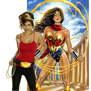 Wonder-Woman-Adult-Accessory-Kit-Superheroes-Womens-Tiara-Belt-w-Lasso-Halloween