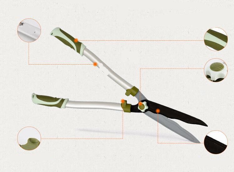 D18 Teflon Aluminum Garden Hand Pruning Shear Gardening Supplie Tool Scissors