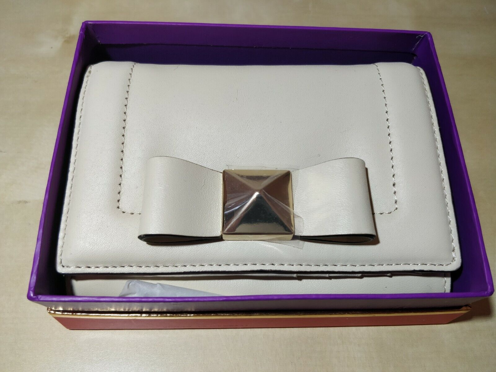 (Holloway) Kate Spade Bow Terrace Purse - Ostrichegg (Brand New & Boxed)