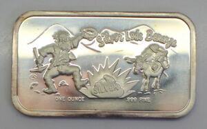 Vintage-Colonial-Mint-039-s-Silver-Lode-Bonanza-1-Troy-Oz-999-Silver-Bar-FS
