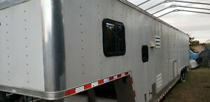 2008 44 ft Millennium Race Trailer 7 ft 8 in Ceiling 24ft garage 20ft RV 3Axle