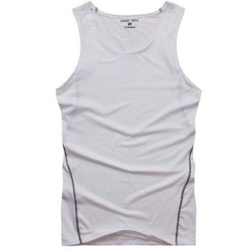 Mens Boys Base Layer Sleeveless Tank Tops Gym Sports Bodybuilding Vest T-Shirt
