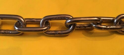 """Stainless Steel 316 Chain 6mm or 1//4/"""" Medium Link Chain by the foot"""
