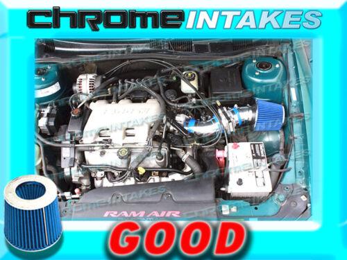 BLUE 97-05 PONTIAC GRAND AM//ALERO//MALIBU 3.1 3.1L//3.4 3.4L V6 AIR INTAKE TB