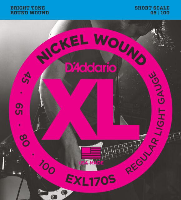 D'Addario EXL170S Nickel Corde per Basso - Corto Bilancia,Reg / Lt Misura 1.2ms