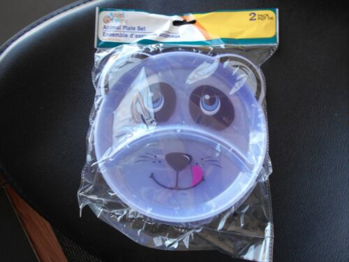New Angel of Mine Divided Animal Plate Plastic 2 pk Panda Bear